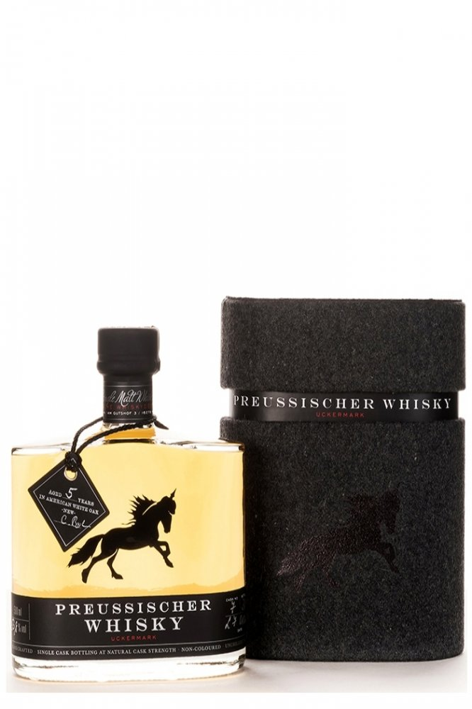 Single malt Preussischer Whisky made in Germany BarUmSCOUT